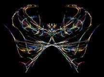 Περίληψη πεταλούδων νέου Στοκ Φωτογραφίες