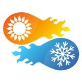 Περίληψη συμβόλων κλιματισμού Στοκ Εικόνα
