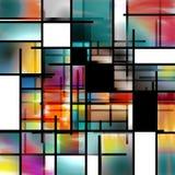 Περίληψη σύγχρονης τέχνης διανυσματική απεικόνιση