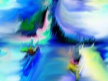 Περίληψη τέχνη ζωγραφική γραφικός αφαίρεση εικόνα Στοκ Εικόνα