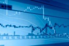 Περίληψη της διπλής έκθεσης διαγραμμάτων χρηματιστηρίου Στοκ Εικόνες