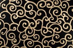 περίληψη arabesque χρυσή Στοκ φωτογραφία με δικαίωμα ελεύθερης χρήσης