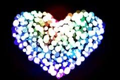 Περίληψη Bokeh καρδιών Στοκ Εικόνες