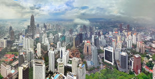 Περίοδος βροχών στην Κουάλα Λουμπούρ (Μαλαισία) Στοκ Εικόνα