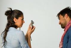 Περίοδος επικοινωνίας φωτογραφιών Στοκ Φωτογραφία