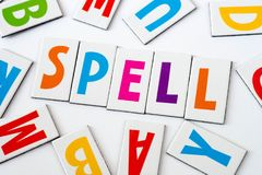 Περίοδος λέξης φιαγμένη από ζωηρόχρωμες επιστολές Στοκ Φωτογραφία