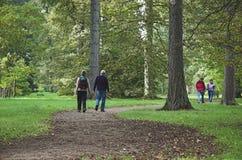 περίπατος δενδρολογικών κήπων Στοκ Εικόνες