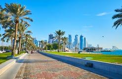 Περίπατος δυτικών κόλπων, Doha, Κατάρ Στοκ φωτογραφίες με δικαίωμα ελεύθερης χρήσης