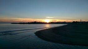 Περίπατος ηλιοβασιλέματος Στοκ Εικόνες