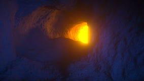 Περίπατος μέσω της μαγικής σπηλιάς με το τέλος λάβας απόθεμα βίντεο