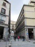 Περίπατος μέσω του δημάρχου Plaza της Μαδρίτης Ισπανία Ευρώπη Στοκ φωτογραφίες με δικαίωμα ελεύθερης χρήσης