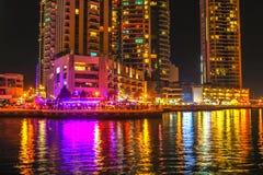 Περίπατος μαρινών του Ντουμπάι Στοκ Φωτογραφία