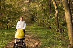 περίπατος μωρών φθινοπώρο&upsi Στοκ εικόνα με δικαίωμα ελεύθερης χρήσης