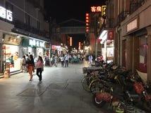 Περίπατος νύχτας του Πεκίνου στοκ εικόνες