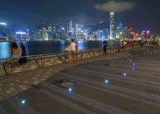 Περίπατος παραλιών του λιμανιού Βικτώριας του Χονγκ Κονγκ στοκ εικόνα με δικαίωμα ελεύθερης χρήσης