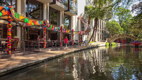 Περίπατος ποταμών του San Antonio στο San Antonio, Τέξας Στοκ Εικόνα