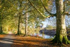 Περίπατος ποταμών φθινοπώρου στοκ εικόνες με δικαίωμα ελεύθερης χρήσης