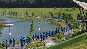 Περίπατος που οργανώνεται στο πάρκο Στοκ Φωτογραφίες