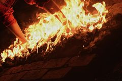 Περίπατος πυρκαγιάς στοκ φωτογραφία με δικαίωμα ελεύθερης χρήσης