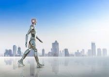 Περίπατος ρομπότ Humanoid διανυσματική απεικόνιση