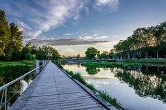 Περίπατος σε ένα πάρκο Heyritz στο κέντρο πόλεων του Στρασβούργου Στοκ εικόνες με δικαίωμα ελεύθερης χρήσης