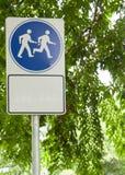 περίπατος σημαδιών τρεξίμα Στοκ Εικόνα