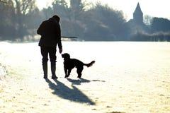 περίπατος σκυλιών Στοκ Εικόνα