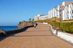 Περίπατος στη μαρίνα Rubicon στο BLANCA Playa, Lanzarote, Κανάριο νησί, Ισπανία Στοκ Εικόνες
