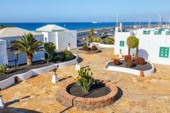 Περίπατος στη μαρίνα Rubicon στο BLANCA Playa, Lanzarote Στοκ Φωτογραφίες