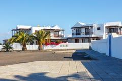 Περίπατος στη μαρίνα Rubicon στο BLANCA Playa, Lanzarote Στοκ φωτογραφίες με δικαίωμα ελεύθερης χρήσης