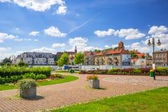 Περίπατος στο πάρκο στα riverbanks του ποταμού Vistula σε Tczew Στοκ εικόνα με δικαίωμα ελεύθερης χρήσης