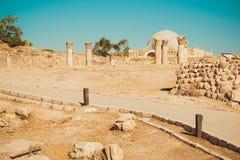 Περίπατος στο Hill ακροπόλεων του Αμμάν αρχαιολογική περιοχή Βιομηχανία Τουρισμού krasnodar διακοπές θερινών εδαφών katya μικρό τ Στοκ Εικόνες