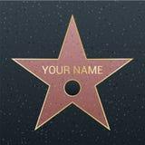 Περίπατος της απεικόνισης αστεριών φήμης Διάσημο σύμβολο ανταμοιβής Επίτευγμα της προσωπικότητας δραστών διανυσματική απεικόνιση