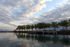 Περίπατος της Γενεύης λιμνών στη Λωζάνη, Ελβετία Στοκ Εικόνες