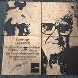 Περίπατος του ομοφυλόφιλου, ο περίπατος τιμής ουράνιων τόξων, σανός του Harry στοκ εικόνα με δικαίωμα ελεύθερης χρήσης