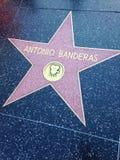 Περίπατος του Antonio Banderas Hollywood του αστεριού φήμης Στοκ Φωτογραφία