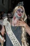 Περίπατος του Jack Daniels Sitges Zombie Στοκ Εικόνες