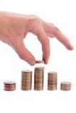 περίπατος χρημάτων χεριών Στοκ φωτογραφία με δικαίωμα ελεύθερης χρήσης
