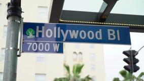Περίπατος Hollywood της φήμης απόθεμα βίντεο