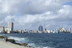 Περίπατος Malecon, διάσημη θέση στην Αβάνα Στοκ εικόνες με δικαίωμα ελεύθερης χρήσης