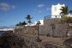 περίπατος playa BLANCA Lanzarote Στοκ Φωτογραφία
