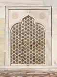 Περίπλοκες σχέδια και γλυπτικές Taj Mahal Στοκ εικόνες με δικαίωμα ελεύθερης χρήσης