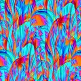 Περίπλοκοι εξωτικός κυρτός τυρκουάζ πορτοκαλής ιώδης μπλε σχεδίων και πορφυρός απεικόνιση αποθεμάτων