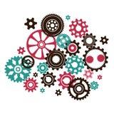 Περίπλοκος περίπλοκος μηχανισμός ρολογιών απεικόνιση αποθεμάτων