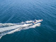 Περίπολος θάλασσας σκαφών βαρκών μηχανών φρουράς ασφάλειας ακτών διάσωσης που απομονώνεται στοκ φωτογραφία με δικαίωμα ελεύθερης χρήσης