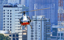Περίπολος αστυνομίας στο ελικόπτερο Στοκ Εικόνες