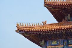 Περίπτερα παγοδών μέσα στο συγκρότημα του ναού του ουρανού στο Πεκίνο Στοκ Εικόνα