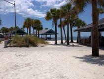 Περίπτερα Beachfront στην ακτή Φλώριδα Κόλπων στοκ φωτογραφία με δικαίωμα ελεύθερης χρήσης