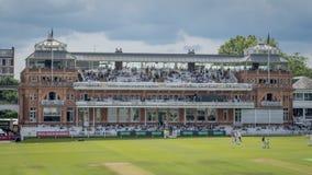 Περίπτερο βικτοριανός-εποχής στους Λόρδους Cricket Ground στοκ φωτογραφία με δικαίωμα ελεύθερης χρήσης