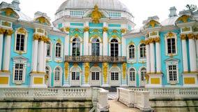 Περίπτερο ερημητηρίων στο πάρκο της Catherine σε Tsarskoe Selo κοντά σε Άγιο Πετρούπολη, Ρωσία απόθεμα βίντεο
